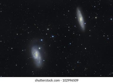 Galaxy duo in Leo