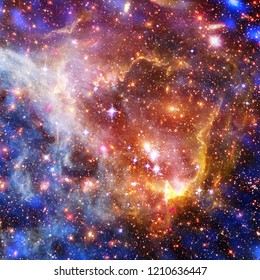 Galaxy and light. The elements of this image furnished by NASA.