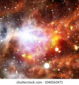 Galaxy, nebula and gas. The elements of this image furnished by NASA.
