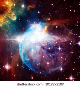 Galaxy, nebula and gas. Space background. Space wallpaper. The elements of this image furnished by NASA.