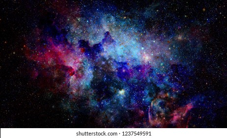Galaxy and nebula. Solar system. Elements of this Image Furnished by NASA