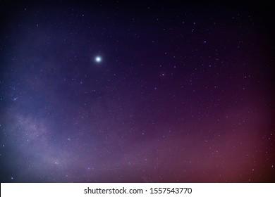 Galaxy Sky with North star.