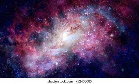 Galaxy in space, beauty of universe, black hole. Elements of this image furnished by NASA.