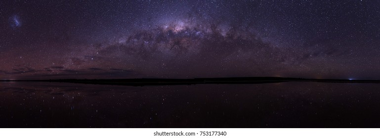 Galaxy Star Bridge in Lake Tyrrell Sea Lake, Victoria, Australia