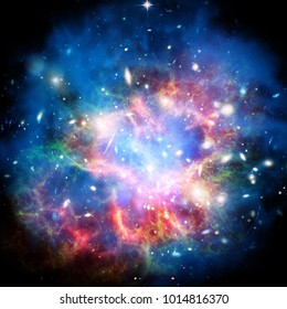 Galaxy and stardust. The elements of this image furnished by NASA.