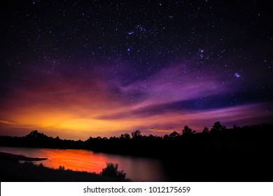 Galaxy with stars and space dust in night sky background with stars and space dust in the universe. Landscape with gradient star among the galaxy.