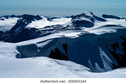 Galdhopiggen - Norway's highest mountain - seen from Glittertind. Jotunheimen, Norway
