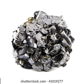 Galena galenite isolated on white background