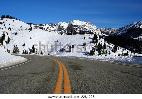 Galena Summit, hwy 75 between Stanley and Ketchum Idaho, Winter