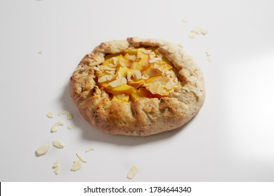 Galette with apricot and almond