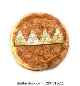 galette des rois, epiphany cake isolated