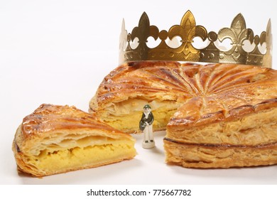 Galette with Figurine and Golden Crown