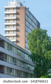 GALGENVELD NIJMEGEN, THE NETHERLANDS, 5 JUNE  2019 Student Appartement Complex SSH&