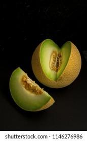 Galia melon, cut