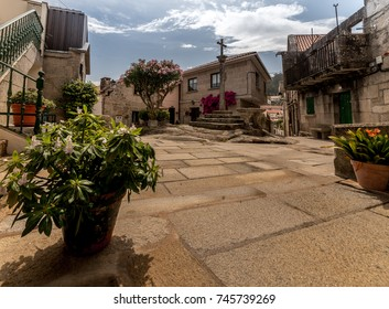 Galicia. Fishermans Village of Combarro. Old streets.