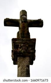 Galician Cruceiro close-up of the cross, Galicia by Fermín Tamames