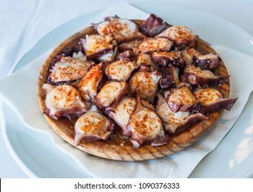Galician style octopus, pulpo a la gallega