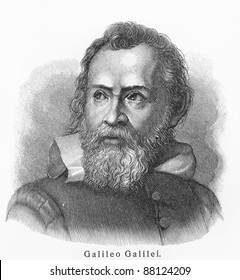 Galileo Galilei - Picture from Meyers Lexicon books written in German language. Collection of 21 volumes published  between 1905 and 1909.