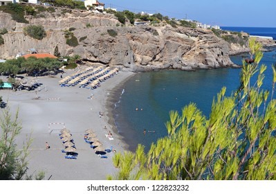 Galini and Koutsouras bay at Crete island in Greece, near Ierapetra city.