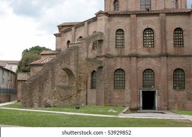 Galla Placidia mausoleum and St Vitale church, Ravenna, Italy