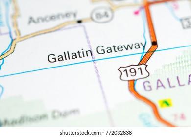 Gallatin Gateway. Montana. USA.