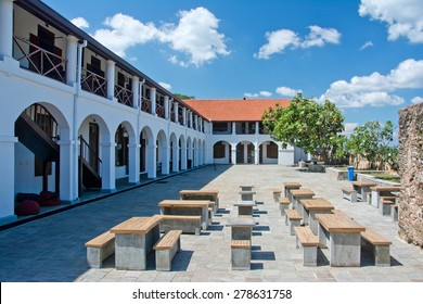 Galle Fort Dutch Hospital Shopping Precinct. Galle Dutch Fort 17th Centurys Ruined Dutch Castle That Is Unesco Listed As A World Heritage Site In Sri Lanka