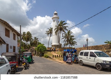 Galle, Sri Lanka - July 27, 2018: The lighthouse inside the ancient Galle Fort