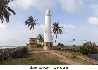 Galle, Sri Lanka - July 28, 2018: The lighthouse inside the ancient Galle Fort
