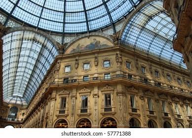 Galleria Emanuele Vittorio shopping arcade, Milan, Italy
