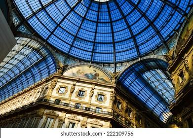 Galleria Vittorio Emanuele II in central Milan, Italy