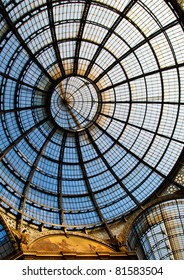 The Galleria Vittorio Emanuele II is a covered double arcade formed of two glass-vaulted arcades at right angles intersecting in an octagon.