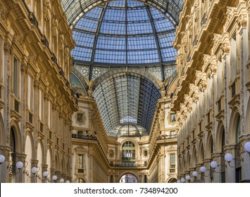 Galleria Vittorio Emanuele II, gallery, Milano, Milan, Lombardy, Lombardy, Italy, Europe