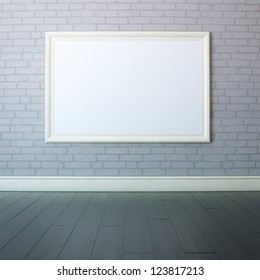 Gallery Interior With Big Empty Frame