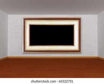 Gallery's room with picture frame