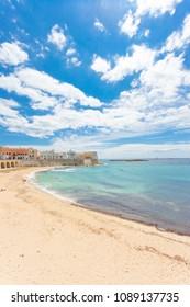 Gallipoli, Apulia, Italy - Impressive calmness at the lovely beach of Gallipoli