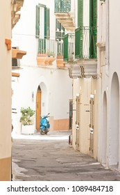 Gallipoli, Apulia, Italy - Lovely little balconies in a middle aged alleyway