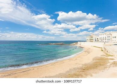 Gallipoli, Apulia, Italy - Sunshine at the broad beach of Gallipoli