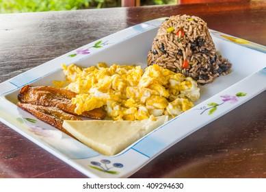 Gallo pinto breakfast of Costa Rica