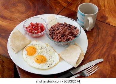 Gallo pinto, traditional dish of Nicaragua and Costa Rica, Central America