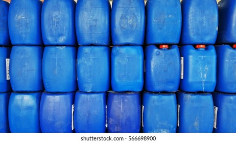 Gallon blue are arranged in an orderly manner,gallon background