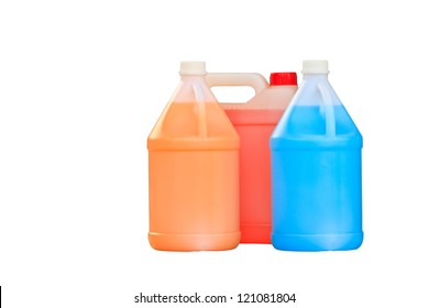 gallon bottle of  liquid isolated over a white background