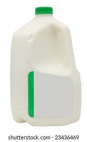 Gallon of milk with clipping path and add text label.