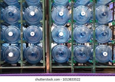 gallon plastic water on transportation