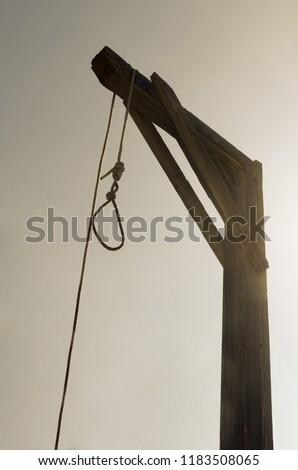 Gallows and hangman noose