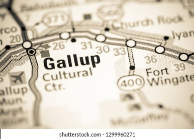 Gallup. New Mexico. USA on a map
