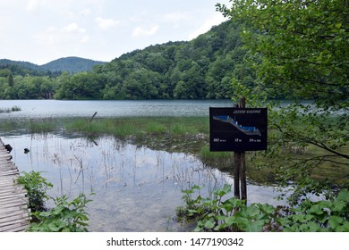 Galovac Lake (Jezero Galovac), Idyllic lake landscape in Plitvice Lakes National Park (Nacionalni park Plitvicka jezera). Karlovac County, Croatia.