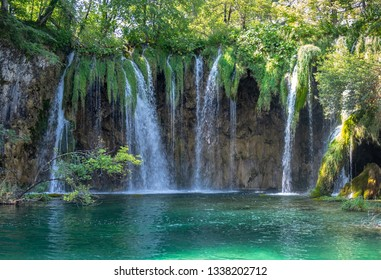 Galovacki Buk waterfall, one of the largest waterfalls in Plitvice Lakes National Park, Croatia