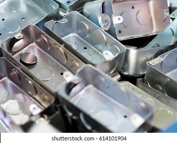 Galvanized electrical junction box background