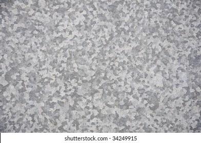 Galvanized metal surface