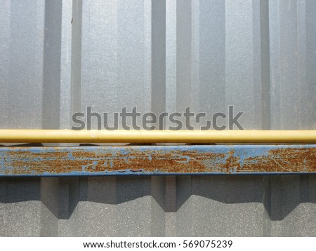 Galvanized Pipe Fence Wire Steel Beams Stock Photo (Edit Now